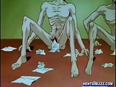 anime hentai toon cartoon slut gangbang