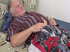 Chubby Rides An Old Mans Hard Cock