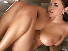 2 big boobs babes fucking a lucky dude