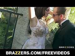 Lingerie clad bride Tiffany Tyler fucked to orgasm