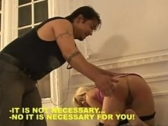A Russian blonde prostitute punished and fucked