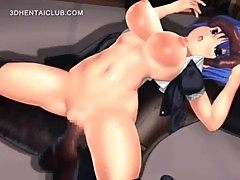 Pink anime pussy fucked by monster cock in 3d