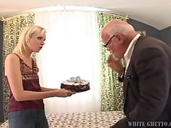 Horny Old Grampa Loves to Cream Pie Teen Blonde Babes