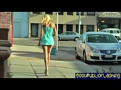 Addison O'Riley - Leggy Blonde Public Flashing Slut pt. 1