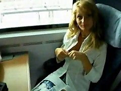 Train fuck and facial