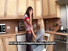 Aly and Irie lovely lesbo girls licking
