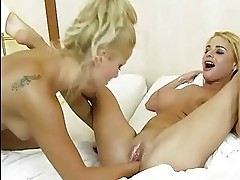 Nasty blondes fisting each other
