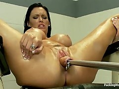 A Squirting, Cumming Mess of HOT Machine Fucking Jenna Presley