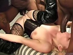 A Great Interracial Gangbang With The Blonde Babe Anastasia Blue