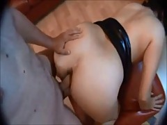 Amateur curvy ass fucked on homemade