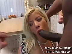 Housewife lets three men fuck her body