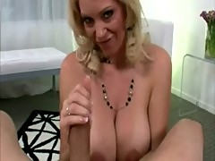 Mature blondy giving me head on camera