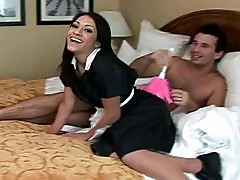 Latina maid Rachel Milan fucking in a hotel