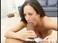 My mom is getting fucked by a black monster cock