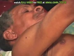 Busty Indian Teen Sucks Old Man's Big Cock And Gets Her Shaved Pussy Fucked
