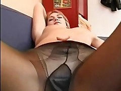 Hot amateur Milf masturbates sucks and fucks