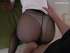 fuck widow neighbour in pantyhose high heels
