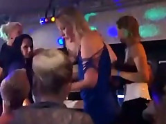 Dirty cfnm sluts party with stripper