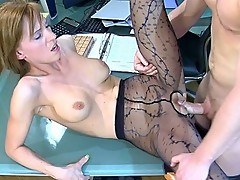 Rosa&Bertram secretary pantyhose video