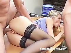 Emma Starr at the office