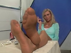 Jenna J's sweaty stockings POV