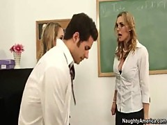 My First Sex Teacher---Tanya Tate in a Threesome with her Students
