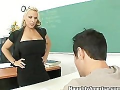 BLONDE TEACHER huge cock fuck