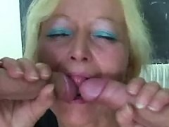 Perverted old teacher takes two young cocks