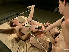 Going At it: Mandy Mitchell and Amber Rayne Fucking