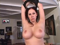 Sexy brunette Gianna Michaels deepthroats and gets cum on her face