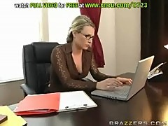Double Big Cock Penetration For The Horny Blonde Harmony Rose