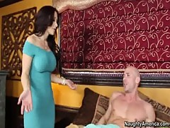 Big tit pornstar Jayden Jaymes gets her pussy eaten by friends husband