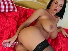 Strong Sexy busted Laura Lion thumps her favotite Making her vagina Juice hot