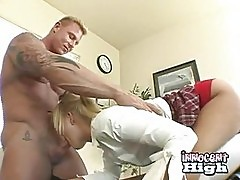 Blond Highschool Sasha Knox Enjoys A Beefy Dick Gliding In H...
